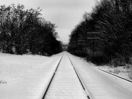 Train Track in the Snow by ApprovalGame