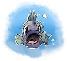 Fishy Face by vonholdt