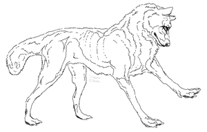 Free wolf lineart by Nuuuk