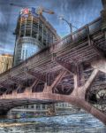 Frozen Chicago River IV by spudart