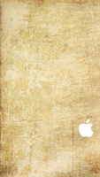 iPhone 5 Sepia Wallpaper White Logo by SimpleWallpapers