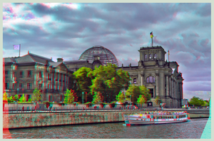 Bundestag in Berlin 3D :: DRi Anaglyph Stereoscopy by zour