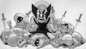 Death of Ninja and a Wolverine by BluBoiArt