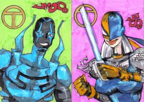 COMISH Blue Beetle and Ravager by jasinmartin