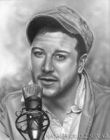 Matt Cardle pencil portrait by Stenat