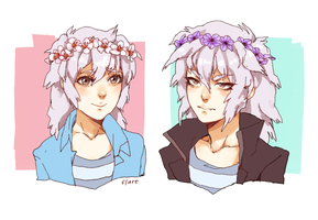 Baby's First White Haired Anime Boys by Flarefyre