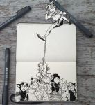 #144 Tug of War by 365-DaysOfDoodles