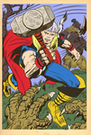 Thor God Of Thunder By Jack Kirby classic colors by kurt5494