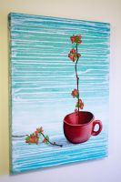 Cup and Flowers by blankearthdesign