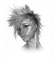Punk chick by Vzamm