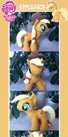 Applejack Plush + Satchel by MintyStitch