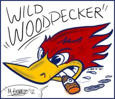 Woody The Wild Woodpecker by Insanemoe