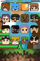 Minecraft Youtubers Themed IPhone 4/4S wallpaper by Minccifancutie