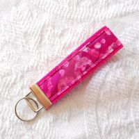 Fucshia Cotton Key Fob by BoutiqueVintage72