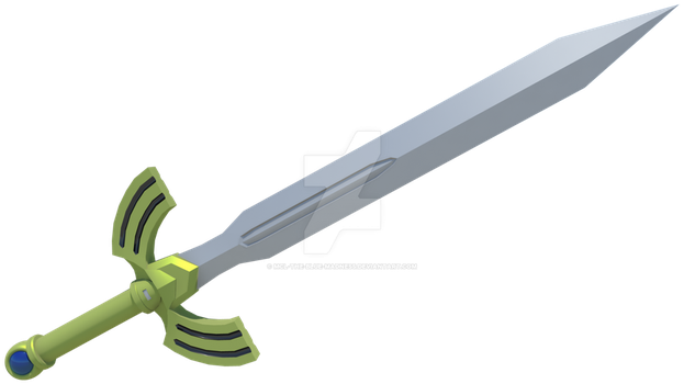 Link's Awakening - Seashell Sword by Mcl-The-Blue-Madness