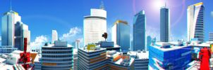 Mirror's Edge City Anaglyph Panorama by SKstalker