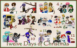Twelve Days of Christmas at the Shonen Academy by MaryKosmosVer2