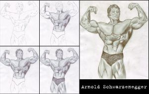 Arnold Schwarzenegger steps by vik-west