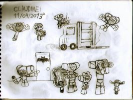 The OC Gang Show doodles 2 by claudinei230