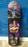 Corpse Bride skateboard by ashLedford