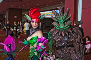 ConnectiCon 2014 - Zyra and Maokai by VideoGameStupid