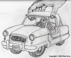 Mouse in His Tiny Car by maxevry