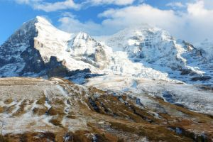Snowy Mountain Scape by Destroth