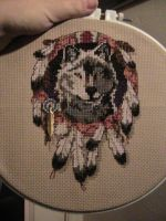 Wolf Cross-stitch by MuffyIsMe