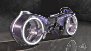 TRON Light Cycle Disney view by Tyler007