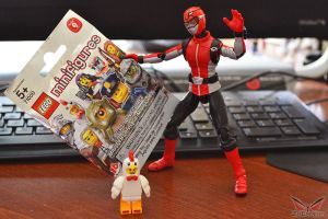 Hiromu Meets Chicken Suit Guy (Lego Minifigures) by ZaEmpera