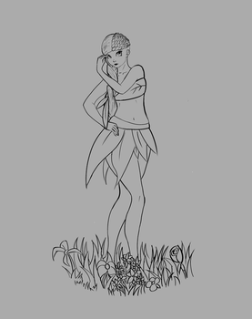 Maya Lineart Before Painting by marnicqvl