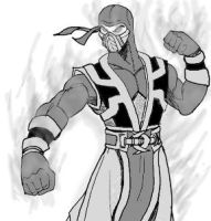 Ermac Sketch by dskemmanuel