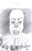 pennywise sketch by who-fan96