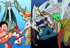 Steven and Aizu pokemon teams