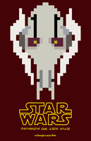 8-Bit Star Wars: Revenge of the Sith Poster by EpsilonTLOSdark4