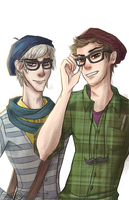 Hipster Nerds by SewnFlesh