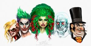 Batman villains by pardoart