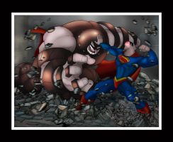 Superman Vs The Juggernaut by Helmsberg