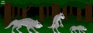 Fearsome Forests: Creature Pack preview: Wolves by Zombie-Kawakami