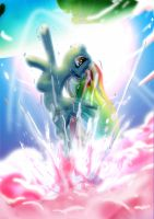 Rainbow Dash Earth Bound by Toonlancer