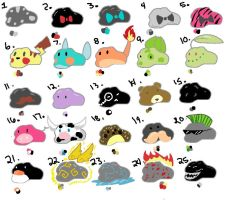 Free Adoptables Pet Rocks OuO (closed OnO) by Goldfishtoothbrush
