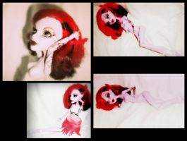 Operetta pin-up style collage by gorgonbreath