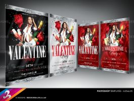 Valentines Day Party Flyer Templates by AnotherBcreation