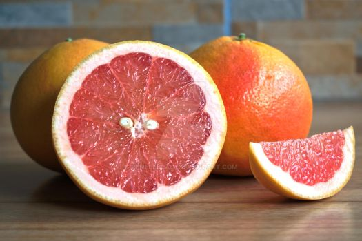 Red Grapefruits by ReneLeBeau