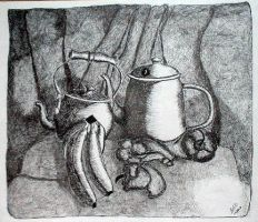 Pen and Ink Still Life 1 by siostra-rana