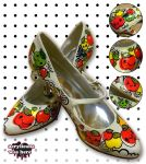 Apples a Go Go Shoes by marywinkler