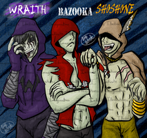 The 3 Hunters - Wraith, Bazooka, and Shoshone by I3-byUsagi