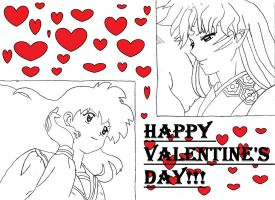 Happy Valentine's Day SessxKag Lovers! by kasey44