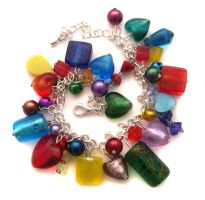 Jewel Tones Bracelet by fairy-cakes