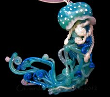 Blue Green Jellyfish by carmendee